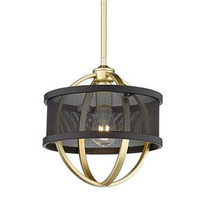 Golden Lighting Colson Mini Pendant Light - Gold