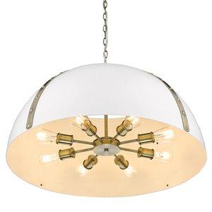 Golden Lighting Aldrich Aged Brass 8-Light Pendant Light - Gold