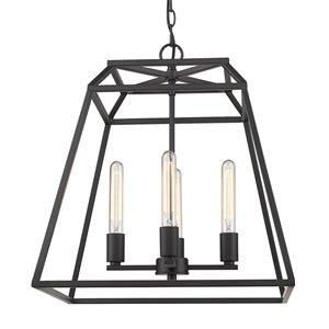 Golden Lighting Amara 4-Light Pendant Light - Black