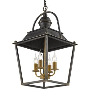Golden Lighting Christoff 4-Light Pendant Light - Black