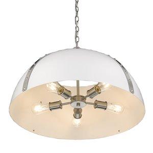 Golden Lighting Aldrich PW 5-Light Pendant Light - Pewter