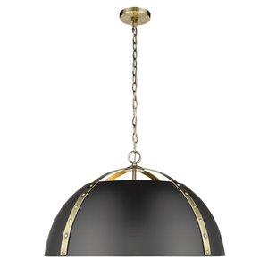 Golden Lighting Aldrich AB 5-Light Aged Brass Pendant Light - Gold