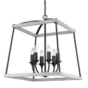Golden Lighting Teagan 6-Light Pendant Light - Black