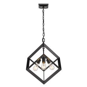 Golden Lighting Architect 3-Light Pendant Light - Black