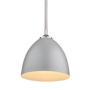 Golden Lighting Zoey Small Pendant Light - Pewter