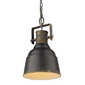 Golden Lighting Quarry 1-Light Pendant Light - Black