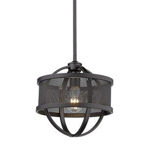 Golden Lighting Colson Mini Pendant Light - Black