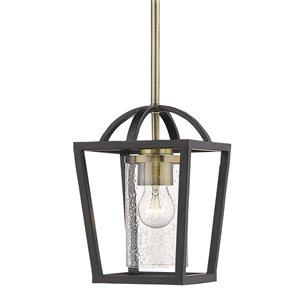 Golden Lighting Mercer Mini Pendant Light - Matte Black