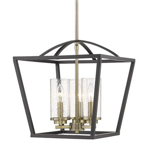 Golden Lighting Mercer 3-Light Pendant - Matte Black