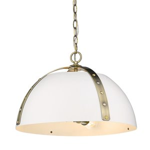 Golden Lighting Aldrich Aged Brass 3-Light Pendant - Gold
