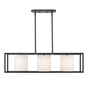 Golden Lighting Manhattan Linear Pendant Light - Matte Black