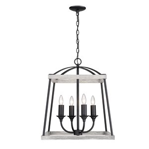 Golden Lighting Teagan 4-Light Pendant Light - Black