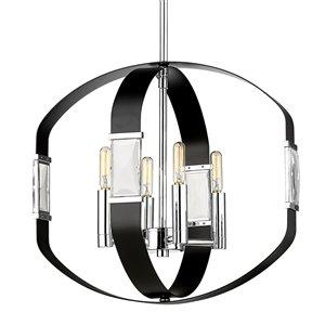 Golden Lighting Ariana 4-Light Pendant Light - Chrome