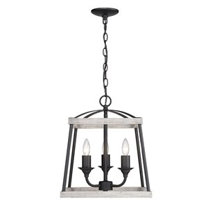 Golden Lighting Teagan 3-Light Pendant Light - Black