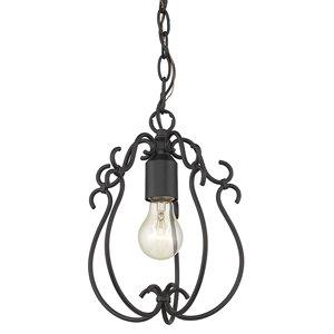Golden Lighting Suzette Mini Pendant Light - Natural Black