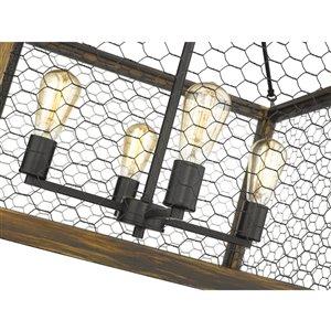 Golden Lighting Sutton 4-Light Pendant - Black