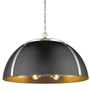 Golden Lighting Aldrich PW 8-Light Pendant Light - Pewter