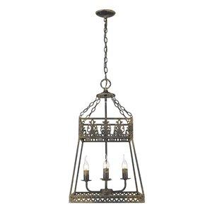 Golden Lighting Tudor 4-Light Pendant Light - Black