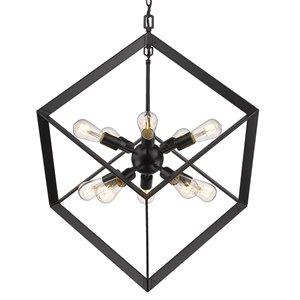 Golden Lighting Architect 10-Light Pendant Light - Black