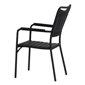 Oakland Living Patio Dining Set - Steel - 3-Piece - Black ... on Oakland Living Patio Sets id=45506