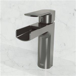 VIGO Ileana Single Hole Bathroom Faucet - Graphite Black