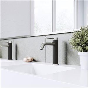 VIGO Madison Bathroom Faucet - Single Hole - Brushed Nickel