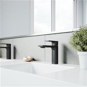 VIGO Davidson Bathroom Faucet - Single Hole - Matte Black