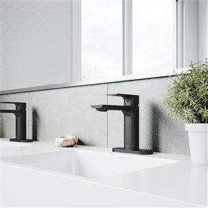 VIGO Davidson Single Hole Bathroom Faucet - Matte Black