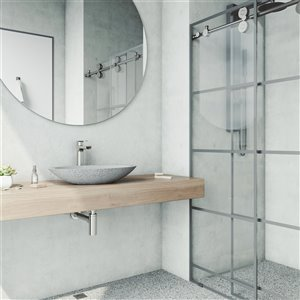 VIGO Yarrow Light Grey Bathroom Sink -