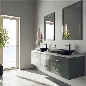 VIGO Turquoise Water Turquoise Bathroom Sink - Brushed Nickel Faucet
