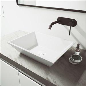 VIGO LenoxWall Mount Bathroom Faucet - Matte Black