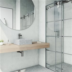 VIGO Aster Light Grey Bathroom Sink -