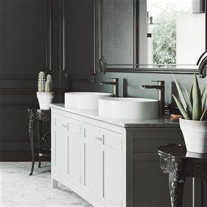 VIGO Anvil Bathroom Sink - 16-in - Matte White