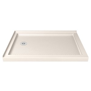 DreamLine SlimLine 36-in x 54-in Double Threshold Shower Base