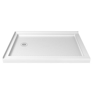 DreamLine SlimLine 34-in x 48-in Double Threshold Shower Base