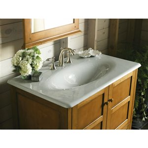 KOHLER Impressions Vanity-Top Sink with One Faucet Hole, 37-in, White