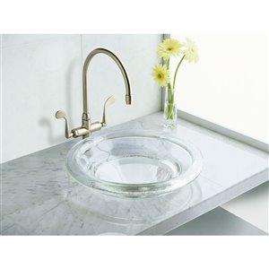 KOHLER Spun Glass Vessel Bathroom Sink - 17.5-in - Off-White