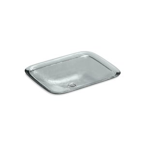 KOHLER Inia Wading Pool Glass Rectangular Vessel Bathroom Sink - White