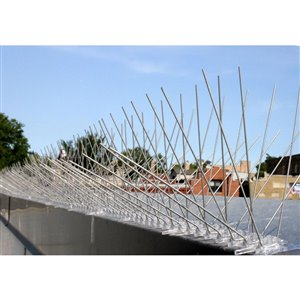 Bird-X Extra Wide Stainless Steel Bird Spikes - 10-ft Kit