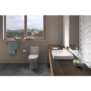 TOTO Aquia IV Elongated Skirted Toilet Bowl - Cotton White