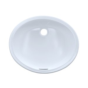 TOTO Rendezvous Oval Undermount Bathroom Sink - 19.25-in - Cotton White