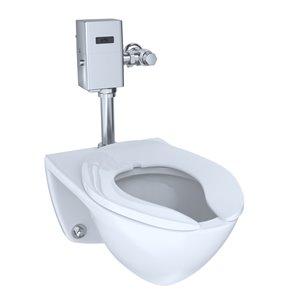 TOTO Flushometer Elongated Wall-Mount Toilet Bowl - Cotton White