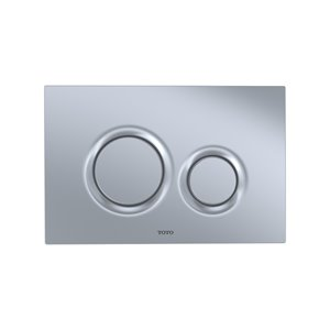 TOTO Push Button Plate for DuoFit In-Wall Tank System - Round - Matte Silver