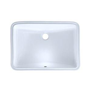 TOTO Rectangular Undermount Bathroom Sink - 23.25-in - Cotton White