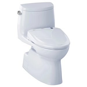 TOTO Carlyle II Elongated Toilet - Comfort Height -  Cotton White