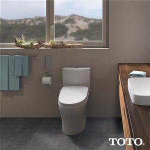 TOTO Washlet Ewater+ Electronic Bidet Toilet Seat - Elongated - Cotton White