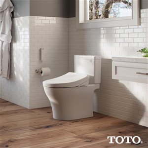 TOTO K300 Washlet Electronic Bidet Toilet Seat - Elongated - Cotton White