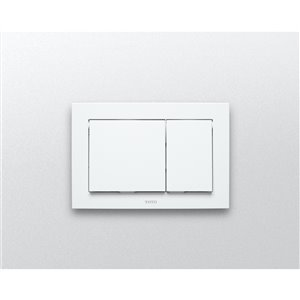 TOTO Push Button Plate for In-Wall Tank System - White