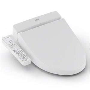 TOTO Washlet C100 Electronic Bidet Toilet Seat - Elongated - Cotton White