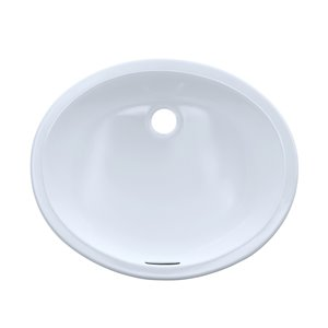 TOTO Oval Undermount Bathroom Sink - 19.25-in - Cotton White